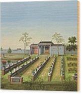 Nursery Garden, C.1820-40 Wood Print