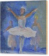 Nutcracker Ballet Wood Print by Donna Tuten