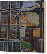 Nutcracker Statue In Downtown Grants Pass Wood Print