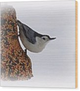 Nuthatch Bell Wood Print