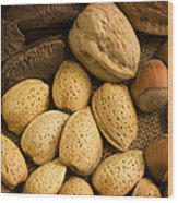 Nuts Aglow Wood Print