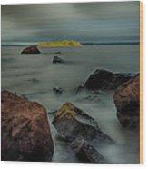 Nuttall Island Last Sunlight Wood Print
