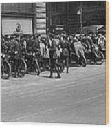 Ny Armored Motorcycle Squad  Wood Print