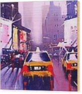 Ny Cabs2 Wood Print