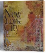 Ny City Collage - 6 Wood Print