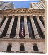 Ny Stock Exchange Wood Print