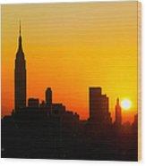 Ny  Sunrise For Thanksgiving Wood Print