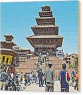 Nyatapola-tallest Pagoda In Nepal-in  Wood Print