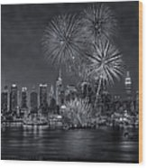 Nyc Celebrate Fleet Week Bw Wood Print