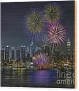 Nyc Celebrates Fleet Week Wood Print by Susan Candelario