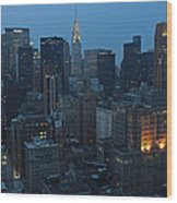 Nyc Chrysler Building Wood Print