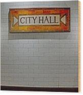 Nyc City Hall Subway Station Wood Print