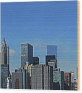 Nyc Financial District Wood Print