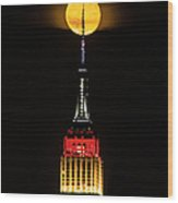 Nyc Moonstruck For World Cup Wood Print