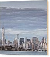 Nyc On A Cloudy Day Wood Print