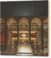 Nyc Opera House Wood Print