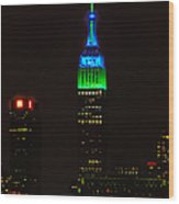Nyc Salutes Seattle Seahawks Wood Print