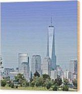 Nyc Skyline From The Park - Image 1666-01 Wood Print