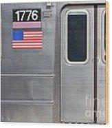 Nyc Subway Car 1776 Wood Print by Jannis Werner