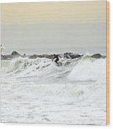 Nyc Surfing Area Wood Print
