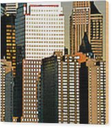 Nyc - Tower Jungle Wood Print
