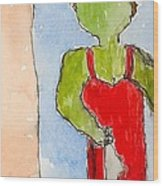 Nyc Transit Authority - Number Ten - From Postcards-to-myself Series Wood Print