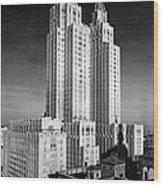 Nyc Waldorf-astoria Hotel Wood Print