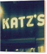 Nyc's Famous Katz's Deli Wood Print
