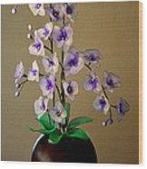 Nylon Stocking Orchid Wood Print