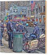 Nypd Highway Patrol Wood Print
