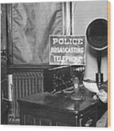 Nypd Radio Station, Wlaw Wood Print