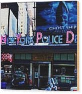 Nypd Time Square Wood Print