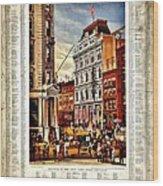 Nyse 1882 Wood Print