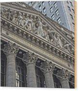 Nyse  New York Stock Exchange Wall Street Wood Print