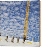 O2 Arena Roof London Wood Print