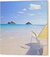 Oahu Lanikai Beach Wood Print