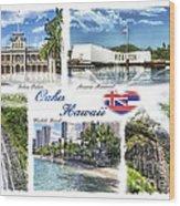 Oahu Postcard 2 Wood Print