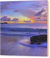Oahu Sunrise Wood Print