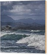 Oahu Surf Wood Print