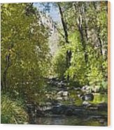 Oak Creek Canyon Creek Arizona Wood Print