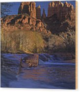 Oak Creek Crossing Sedona Arizona Wood Print