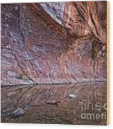 Oak Creek Reflection Wood Print