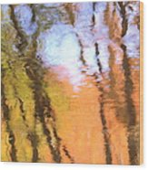 Oak Creek Reflections Wood Print