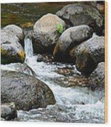 Oak Creek Water And Rocks Wood Print