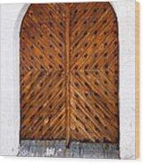 Oak Double Door Wood Print