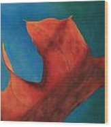Oak Leaf Oil Painting Wood Print