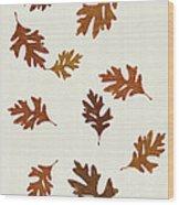 Oak Leaves Art Wood Print