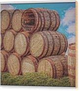 Oak Wine Barrels Wood Print