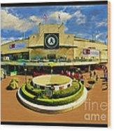 Oakland A's Coliseum Wood Print