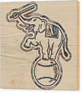 Oakland Athletics Poster Art Wood Print